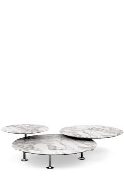 Knoll - Grasshopper Set de 3 Tables Basses Rondes