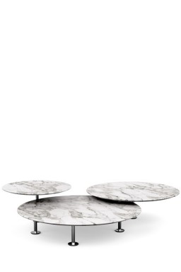 Knoll - Grasshopper Set of three Round Low Tables