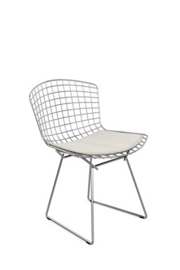 Knoll - Bertoia Plastic Side Chair with Seat Pad