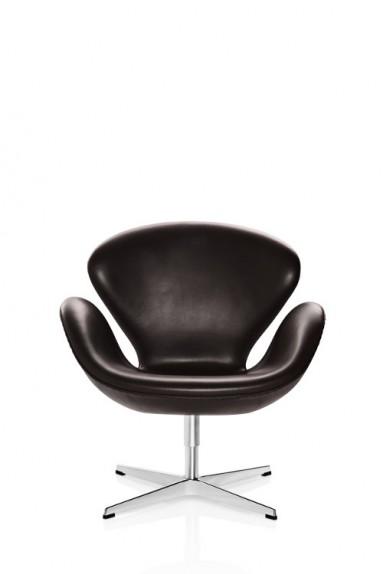 Fritz Hansen - SWAN™ Leather Lounge Chair by Arne Jacobsen