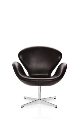SWAN™ Leather Lounge Chair by Arne Jacobsen