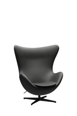 Fritz Hansen - Fauteuil EGG™ revêtement cuir par Arne Jacobsen